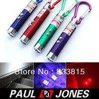 other No No Free Shipping 3 in 1 Outdoor Mini Aluminum Carabiner Keyring Laser Pointer Torch Flashlight OD59
