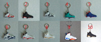 Promotion Silicone Electronic Key Finder 2014 Hot Sale PVC Sneaker Key Ring Mini Shoes 3D Keychain (10pcs lot) Mix Items Acceptable