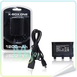 USB recargable de juego y carga del cargador de batería Kit 1200 mAh baterías para Xbox ONE controlador 002107