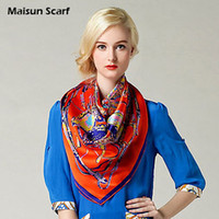 Scarves Yes Print 100 Silk Crepe Satin Plain Large Square Scarves 12mm 90 x 90cm fashion scarf