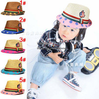 Unisex Summer Fedora Kids Cap Caps Hats Boy Straw Hat Girl Fashion Cowboy Hat Children Caps Kids Hat Boys Girls Sun Hat Beanie Hat Caps Wholesale Caps Child Hats