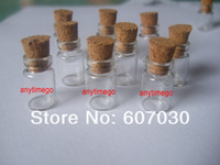 Bottle China (Mainland) 11 x 18 mm Wholesale Lots of 100 Pcs 0.5ml Clear Glass Bottles Vials with Corks