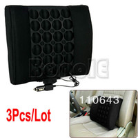 Black 33.5 x 9 x 31cm(L x W x H) (Approx) Seat Covers & Supports 3pcs Lot Wholesale Black 12V Electrical Back Lumbar Seat Car Seat Cushion Back Support Car Cushion Pillow With Massage 6830