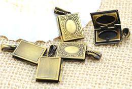 Wholesale 10pcs Antique Bronze Book Charms Locket Pendant x0