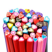 Wholesale 5Packs pack Nail Art Canes Nail Stickers Decoration Polymer Clay Heart shaped Z