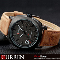 Wholesale 2014 HOT NEW FASHION QUARTZ HOUR DIAL CLOCK LEATHER STRAP WATCHES BUSSINESS MEN S SPORT MILITARY STYLE WATER WRIST WATCH