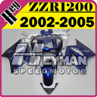 Wholesale Heymanspeedmotor ABS Fairing For Kawasaki ZZR ZZR1200 Blue Silver K15H28 Free Gifts