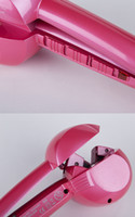 Wholesale 5 Automatic hair curler rollers professional hair divider hair styler crimping iron for US UK EUR plugs pink color