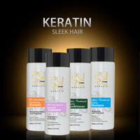 Wholesale Cheep brazilian keratin hair straightening set keratin treatment and hair shampoo and conditioner for hair free shippping