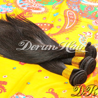 Wholesale Summer Sale on Derun Hair inch Brazilian Virgin Human Hair Weft Extension Silky Straight Natural Color g