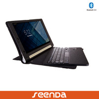 Wholesale Seenda Fashion Cover Flip Case with ABS detachable Bluetooth keyboard for Lenovo Yoga B8000 inch Tablet PC