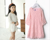 Wholesale 14 Spring Summer Kid s Clothing New Arrival High Quality Lace Children Dress Y Girl Lace Princess Dresses GX25
