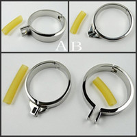 Steel Chinese Toy 304 Real Stainless Steel Steel Single Stainless Steel Cock Rings 5 Size Choose Can Fit For Men Chastity Device Chastity Belt Adult Sex BDSM Toy Metal Fetish Cock Ring