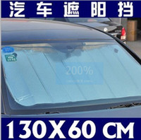 Wholesale 20 Double layer aluminum foil thickening car sun shade block front window sunshade sun visor AAA
