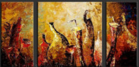 More Panel Oil Painting Abstract Modern Abstract Oil Painting On Canvas Three Panels the Elegant Sparkle Petals Top Home Decoration Excellent Design Nice Wall Art