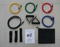 Wholesale 11Pcs in Set Fitness Resistance Bands Exercise Tubes Practical Elastic Training Rope Yoga Pull Rope Pilates Workout Cordages ePacket Fee