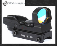 Rifle Scopes   Vector Optics IMP 1x23x34 Red Dot RifleScope Reflex Sight 4 Reticles Gun Sight with 20MM Weaver or 11mm Dovetail Mount