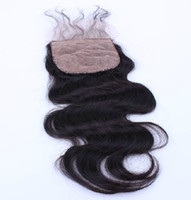 Brazilian Hair Natural Color Body Wave Silk Base Top Lace Closure Brazilian Virgin Hair Body Wave 4*4 Natural Color Dyeable 8 To 24 Inch