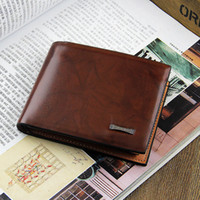 Wholesale Brand new mens Leather Wallet Pockets Card Clutch Cente Bifold Purse designer wallets