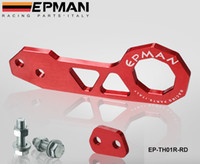 aluminium billets - EPMAN Billet Aluminium car Rear Tow Hook RED Universal car such as for Skyline SX R33 S13 S14 EP TH01R RD Default Color is Red