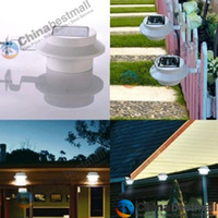 IP65 yard fence - Outdoor Solar Powered LED Cool White Warm White Light Fence Gutter Garden Yard Roof Wall Lamp