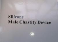 Male Chastity Cage  Clear color Bondage Gear Pure Silicone Male Chastity Device Men Cock Cage Bird Lock Silicone COLOR