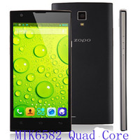 Wholesale 5 inch ZOPO ZP780 MTK6582 Quad Core Android Cell Phone G RAM G ROM Dual Camera WIFI G WCDMA Dropship Free