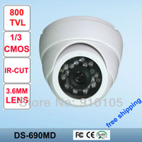 "Yes Infrared Video Camera 1 3"" 800TVL Vandalproof Security CMOS CCTV Cameras,SONY HD 720P,20m IR range,3.6 mm lens with IR CUT DS-690MD"