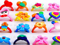 Wholesale Halloween Fashion Children Rings Fashion Ring Polymer Clay Rings Hot selling Jewellery PR14