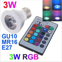 mr16 3w led - 1x Hot W RGB Led Spotlight Bulbs Lamp E27 E14 GU10 Colors Changing Led Stage Lights V Remote Controller