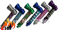 aluminum pipe caps - 5pcs aluminum diamond cut smoking pipe with cap mix colors