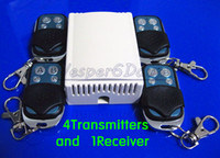 Wholesale set V CH RF Wireless Remote Control Switch System Transmitters and Receiver For Applicance Garage RF MHZ MHZ