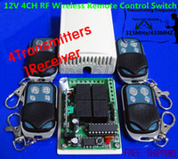 Wholesale V CH RF Wireless Remote Control Switch System Transmitters and Receiver For Applicance Garage RF MHZ MHZ