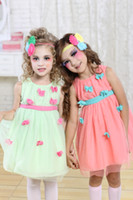 Wholesale Butterfly appliques NEW solid color girl clothing Double Layer tutu dresses Sleeveless Round Collar baby garments Super soft fabrics