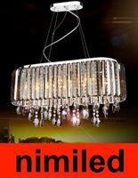 Wholesale nimi206 Modern Smoke Grey Clear Crystal Chandelier Bedroom Stylish Luxury Restaurant With LED Pendant Lighting Droplight Lamp Light