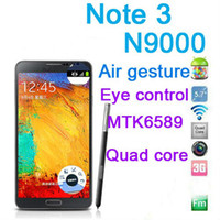 Wholesale Note N9000 Show MTK6589 Quad core Android Cell Phone inch GB RAM G ROM MTK6572 Air command S pen USB Smartphone