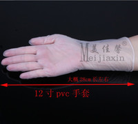 PVC examination gloves - 12 quot One time PVC vinyl gloves disposable hairdressing medical examination glove for
