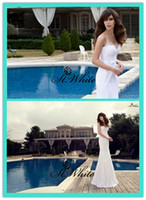 Trumpet/Mermaid Reference Images Spaghetti WOW! Sexy Mermaid Spaghetti strap Sweep Train Beading Pearls Sequins Lace 2014 Wedding Gowns Woman Prom Dresses Backless Bridal Gowns