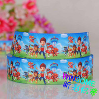 print ribbon printed ribbon - 10 yards quot mm Paw patrol dogs cartoon printed ribbon cartoon gift DIY ployester ribbon
