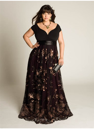 Wholesale Sexy Stunning Sequins Appliques Ruched Plus Size A Line V Neck Floor Length Bridesmaid Prom Gown Evening Dresses
