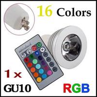 4w led mr16 - 1x Hot W GU10 RGB LED Bulb Light Color RGB Changing spotlight V V with Remote Controller for Home Room Decoration
