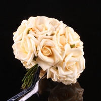 Wholesale 10 heads Rose Flowers Head Latex Real Touch Artificial For Diy Bouquets Bridal colors