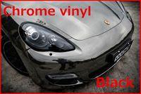 Wholesale 1 pc X0 M chrome vinyl film with bubble free chrome car wrap chrome car sticker