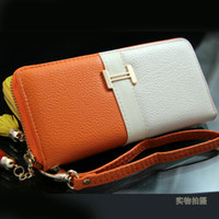 Wholesale Hot sale Women Leather Long Wallet Pocket Card Clutch Cente Bifold Purse Cheap