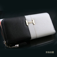 Wholesale Promotion Brand New Designer Women Leather Long Wallet Pocket Card Clutch Cente Bifold Purse Cheap
