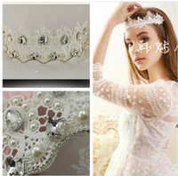 Tiaras&Crowns Rhinestone/Crystal  2014 Princess Lace Tiaras Crytal Rhinestone Hair Accessories Free Shipping Best Selling