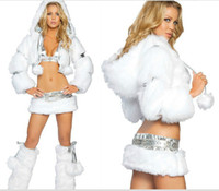 Sexy Costumes Pattern Suits Disney's White Uniform Exotic Apparel Sexy Costumes For Adults Stripper Pole Dance Hot Sale