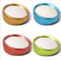 Wholesale Adjustable angle wide angle lens reversing rear view mirror Color blind spot big vision small round mirror sets