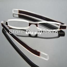 Wholesale 1x Slim TR90 Unisex Folding Reading Glasses Reader Pocket Clip Portable Brown