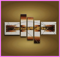 More Panel Oil Painting Abstract Oil Painting Framed 5 Panel Abstract Canvas Wall Art Pictures Modern Interior Decoration X0026